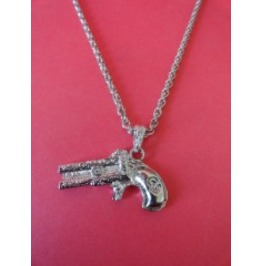 Vintage Antiqued Gun Necklace $6 To Ship