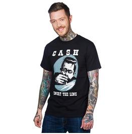 Toxico Clothing Johnny Cash Snort Line Men's T Shirt