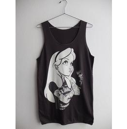 Tattoo Snow White Fashion Pop Rock Indie Vest Tank Top M