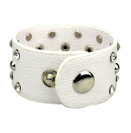 Elegant! Soft White Studded Wristband