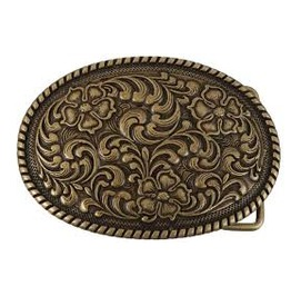 Ornate Western Rockabilly Belt Buckle