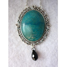 Dragon Egg, Blue Agate Necklace Daenerys, Game Thrones Fantasy