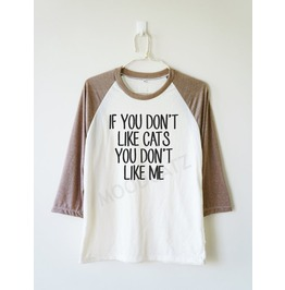 Don't Cats Don't Tee Baseball Long Women Men Shirt