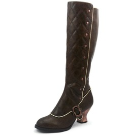 Hades Shoes Women's Victoriana Brown Steampunk Boots