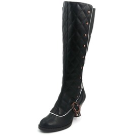 Hades Shoes Women's Victoriana Black Steampunk Boots