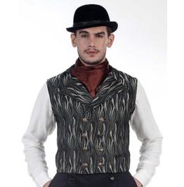 Mens Vintage Steampunk Brummel Double Breasted Vest
