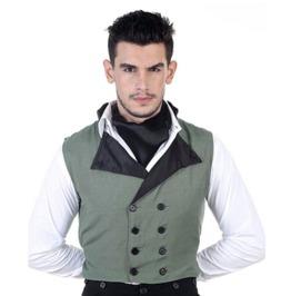 Mens Victorian Steampunk Classic Work Vest
