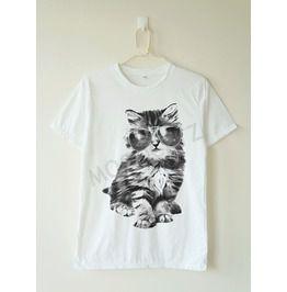 Glasses Cat Shirt Galaxy Shirt Meow Shirt Animal Tee Women Shirt Shirt