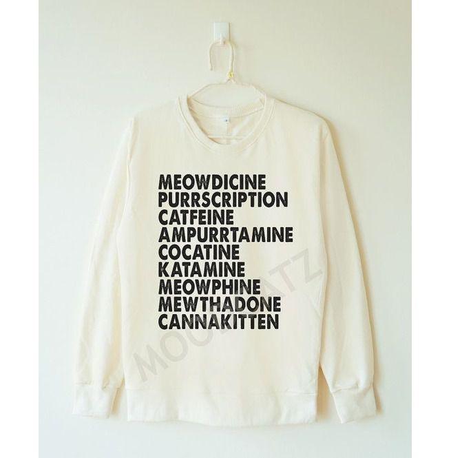 b834b457 Meowdicine Tshirt Funny Cat Tshirt Meow Tshirt Women   RebelsMarket