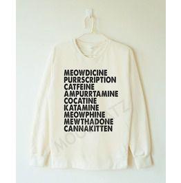 Meowdicine Tshirt Funny Cat Tshirt Meow Tshirt Women Sweater Sweater
