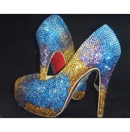 Peacock Crystal Platform Pump