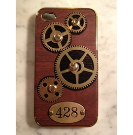 I Gearz Steampunk Apple I Phone 4 S Case Cover Gears Turn