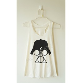 Darth Vader Shirt Deathly Hallows Shirt Women Racer Back Tank Women Shirt
