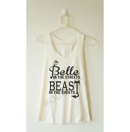 Belle Streets Beast Sheets Tshirt Racer Back Tank Women Shirt