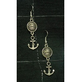 Anchors Away Sun Spacer Dangle Earrings