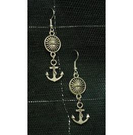 Anchors Away Sun Spacer Dangle Earrings