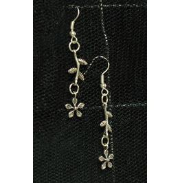 Flower Stem Dangle Earrings