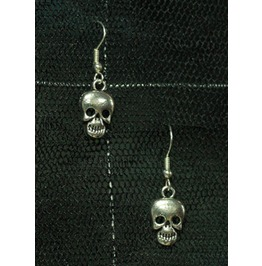 Lone Skull Punk Rockabilly Goth Earrings