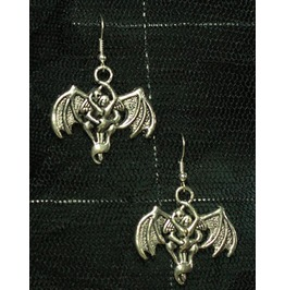 Bat Wings Dangly Goth Earrings Free Shipping!