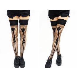 Skeleton Fishnet Gothic Stockings