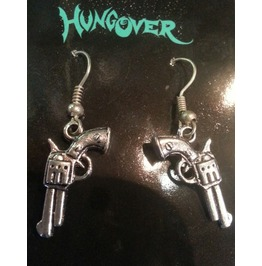 Pistol Western Handgun Rockabilly Earrings