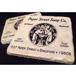 Fight Club Paper Street Soap Co. Tumbled Marble Coaster Set 2