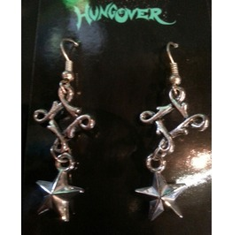 Squiggle Star Dangly Rockabilly Punk Earrings Only $6 To Ship!