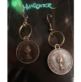 Queen Elizabeth Coin Steampunk Earrings Only $6 To Ship!
