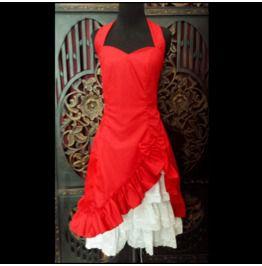 Classy Halter Petticoat Dress, Modern Retro