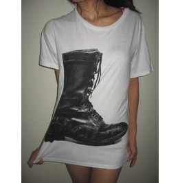 Boots Vintage Fashion Pop Rock T Shirt M