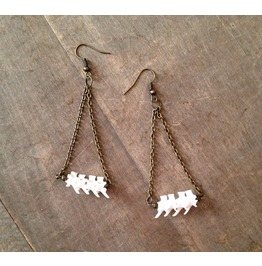 Snake Vertebrae Chandelier Earrings