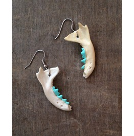 Tiny Mint Jaw Bone Earrings