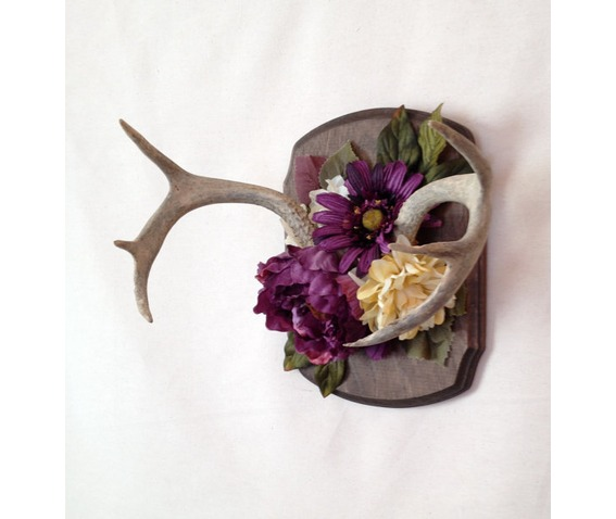 vintage_antler_large_faux_flower_wall_mount_wall_art_original_art_4.jpg