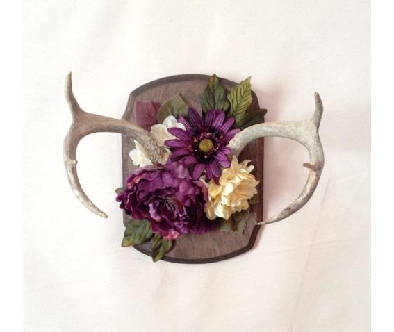 vintage_antler_large_faux_flower_wall_mount_wall_art_original_art_4.jpg