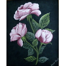 Rose Painting, Original Fine Art Goth Gothic Rockabilly