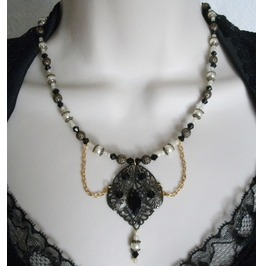 Gothic Night Necklace, Goth Victorian Retro Fashion