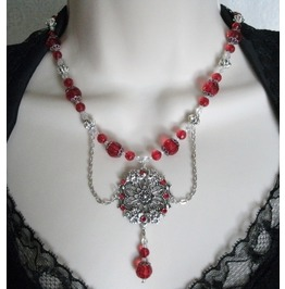 Belladonna Rose Necklace, Goth Victorian Retro Fashion