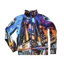 Nyc Women's Zipped Printed Sweatshirt Gagaboo