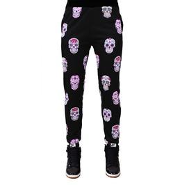 Floral Skulls Printed Sweatpants Gagaboo