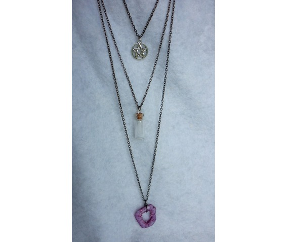 the_white_witch_multi_strand_necklace_pentacle_purple_agate_feather_wicca_necklaces_7.JPG