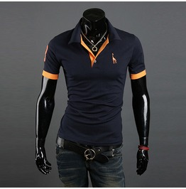 Men's Slim Fit Short Sleeve Polo T Shirt