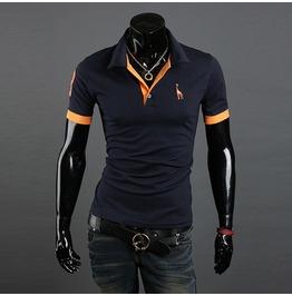 Men's Slim Fit Short Sleeve Polo T Shirt