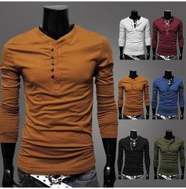 6 colors regular plus sizes mens slim fit long sleeve t shirts top tees t shirts 14