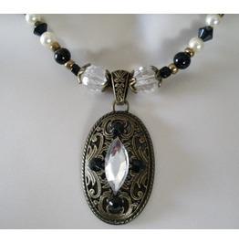 Retro Elegance Goth Necklace, Goth Steampunk Victorian Retro Fashion
