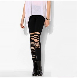 Asymmetric Cutout Leggings