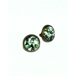 Camouflage Glass Stud Earrings