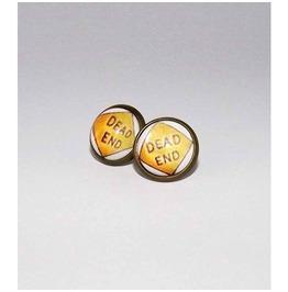 Dead End Glass Stud Earrings
