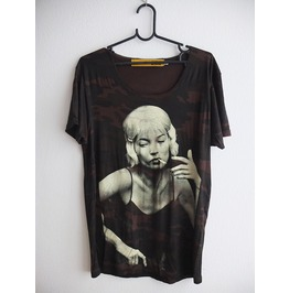 Kate Moss Fashion Pop Rock Punk Indie T Shirt Low Cut M