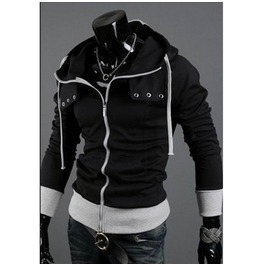 Men's 4 Colors Zip Up Casual Hoodie