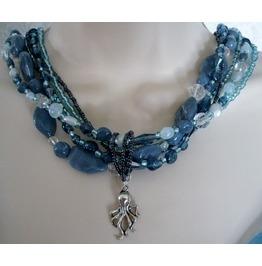 Ocean Treasures Necklace, Boho Bohemian Beach Hippie Hipster